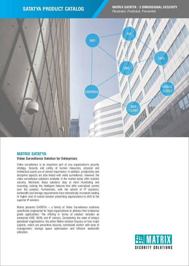 Matrix Satatya Ip Video Surveillance