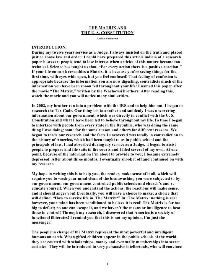 constitution essay outline