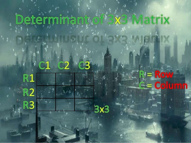 Determinant of Matrix