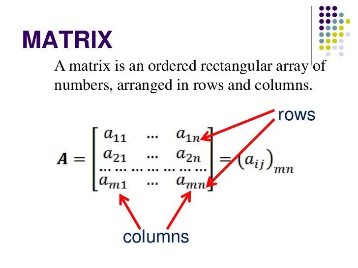 Matrix Algebra on First School Years Maths