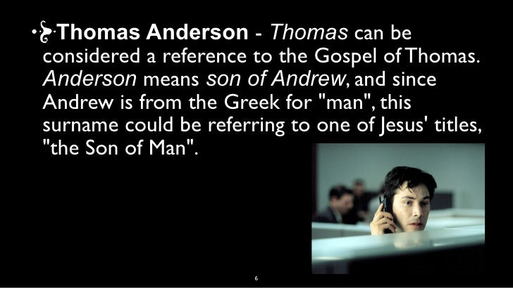 an analysis of messiah in the matrix History and his jewish matrix to generate an ideal jesus who affirms  but  spong nevertheless follows goulder in correlating the structure of.