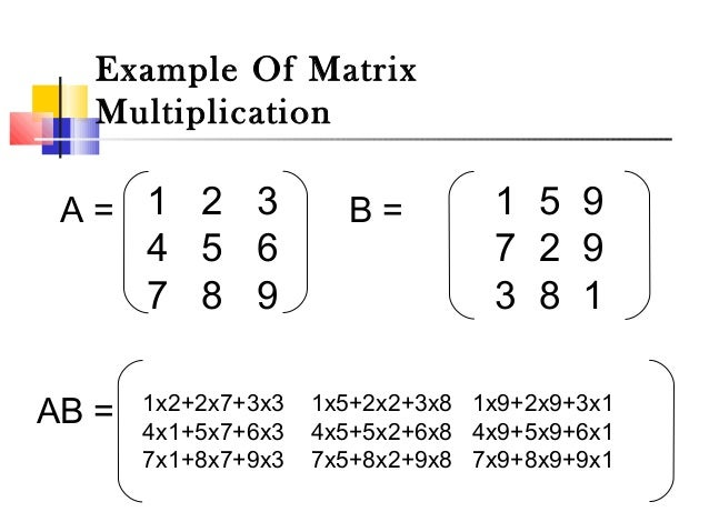 Matrix And Its Operation Addition Subtraction Multiplication