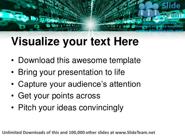 Matrix binary background power point templates themes and backgrounds ppt layouts Slide 3