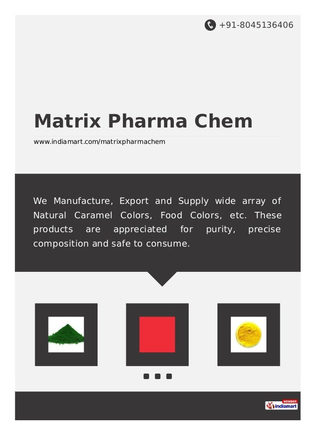 +91-8045136406 Matrix Pharma Chem www.indiamart.com/matrixpharmachem We Manufacture, Export and Supply wide array of Natur...