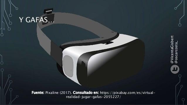 Y GAFAS… Fuente: Pixaline (2017). Consultado en: https://pixabay.com/es/virtual- realidad-jugar-gafas-2055227/ @VicentaGis...