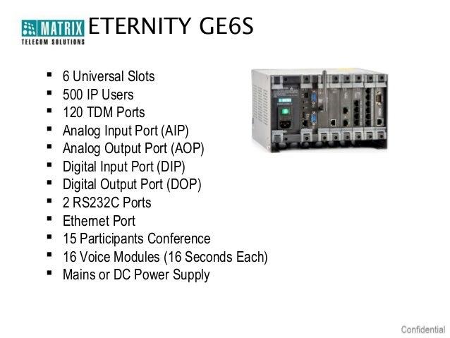Matrix Telecom Solutions Eternity Ge Ip Pbx