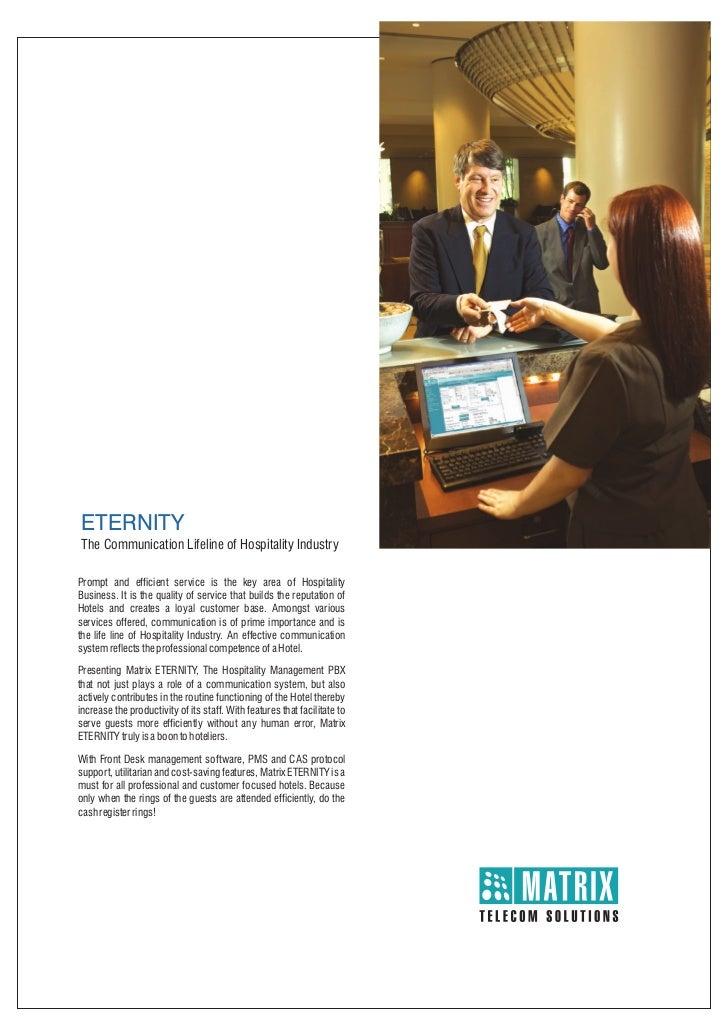 Matrix eternity hospitality pbx_brochure
