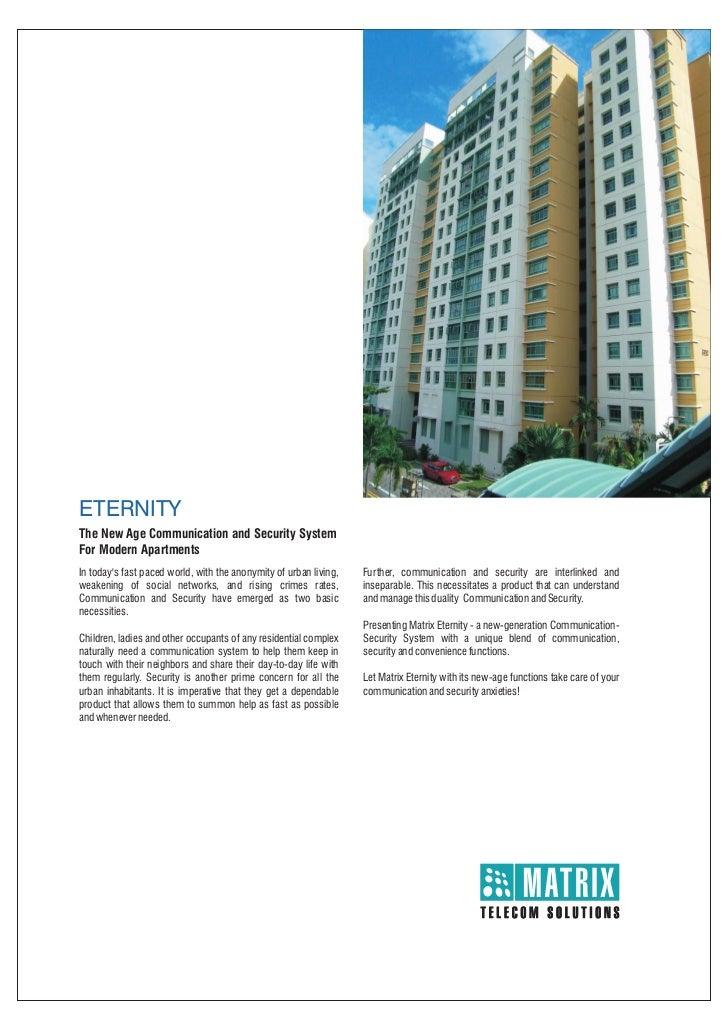 Matrix eternity intercom security_brochure