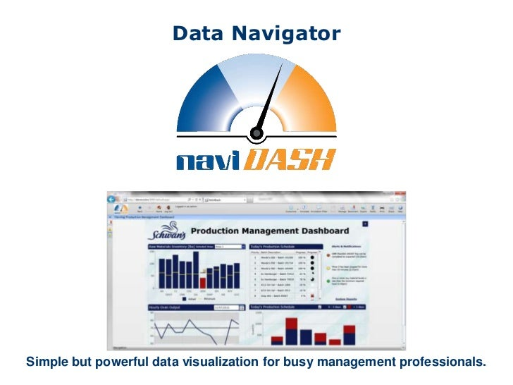 Data NavigatorSimple but powerful data visualization for busy management professionals.