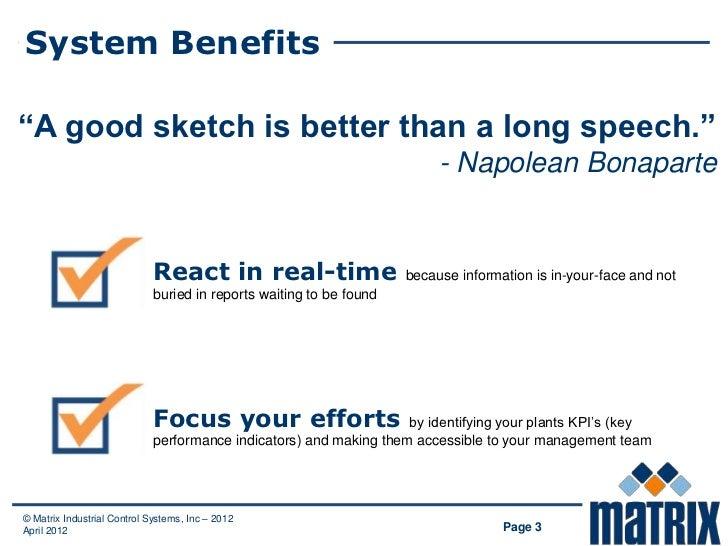 """System Benefits""""A good sketch is better than a long speech.""""                                                              ..."""