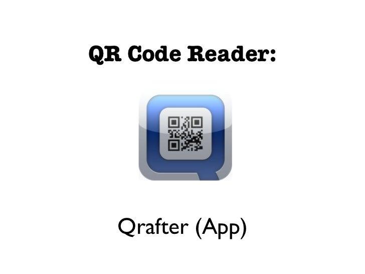 Creating QR Codes                  qrcode.kaywa.com                 Another Option:             QR Stuff - www.qrstuff.com...