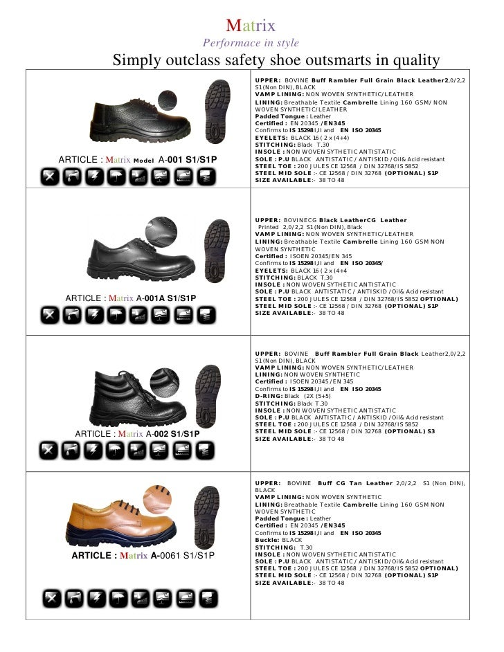 Matrix                                    Performace in style            Simply outclass safety shoe outsmarts in quality ...