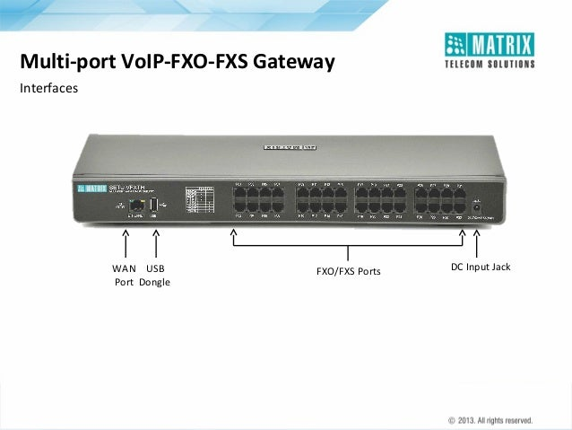 Matrix Telecom Solutions: SETU VFXTH - Fixed VoIP to FXO-FXS Gateways