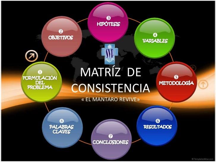                                             MATRÍZ DE                          CONSISTENCIA         « EL MANTARO REVI...