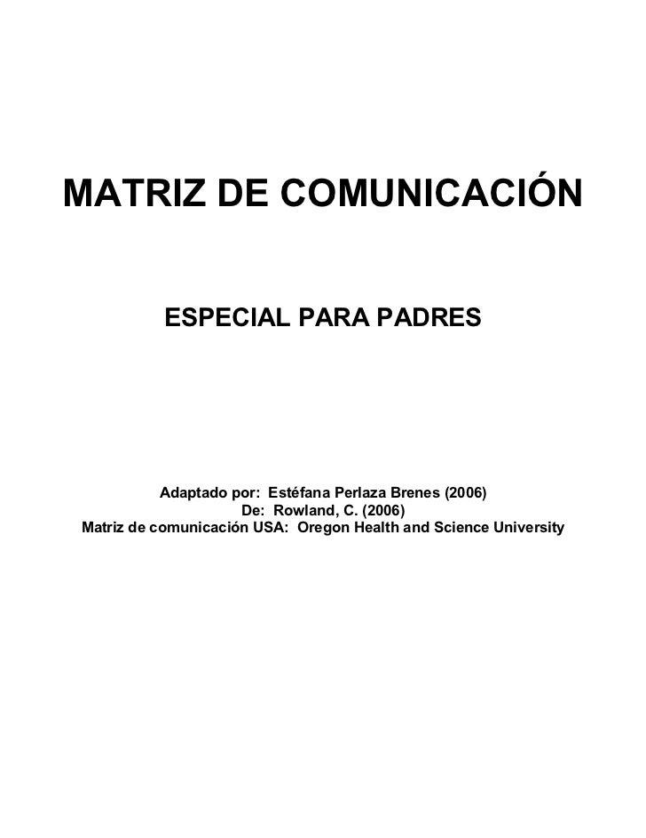Matrizdecomunicacion