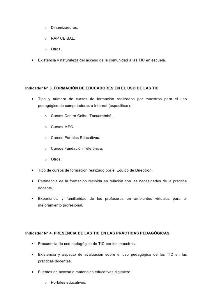 Matriz de Evaluación de la dimensión Escuela participantes proyecto MAC Tacuarembó Slide 2