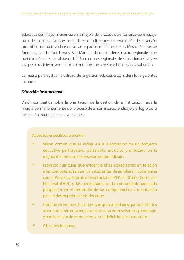Parte 3: Metodología de elaboración de la matriz de evaluaciónSoporte al desempeño docente:Mecanismos que establece la IE ...