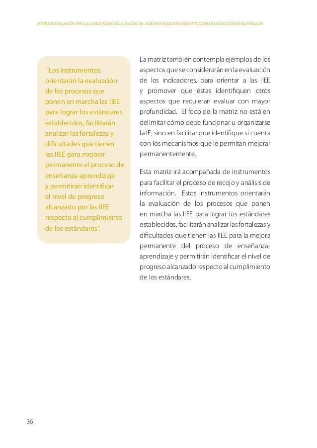 Matriz de Evaluación     Factor 1: Dirección Institucional     Visión compartida sobre la orientación de la gestión de la ...