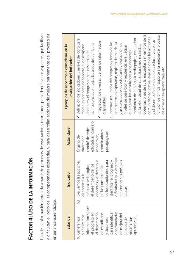 Matriz de evaluación ebr