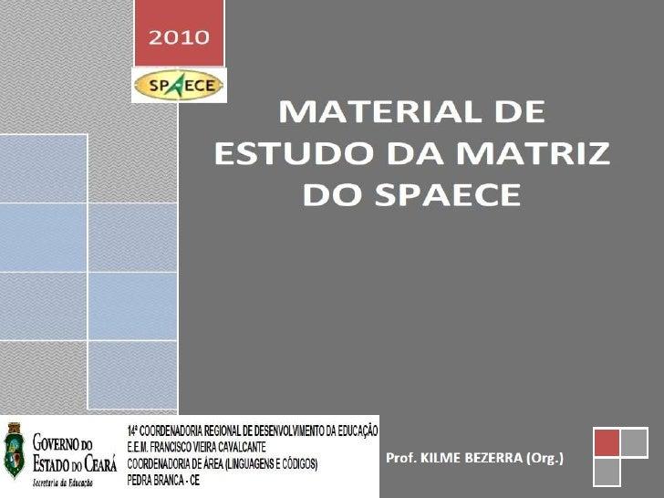 Matriz Comentada de Língua Portuguesa SPAECE