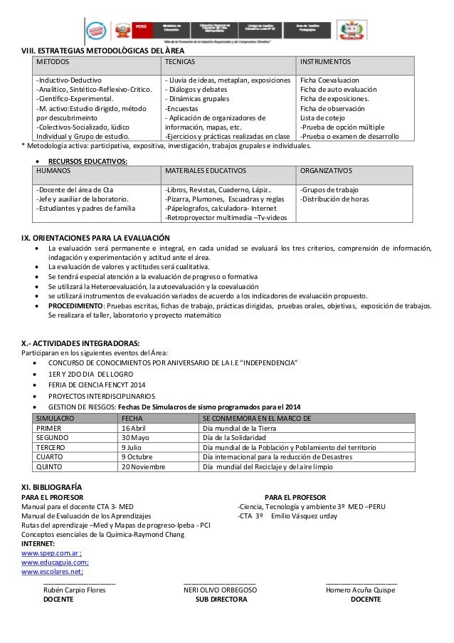 Matriz de programación anual de cta 3ro secundaria