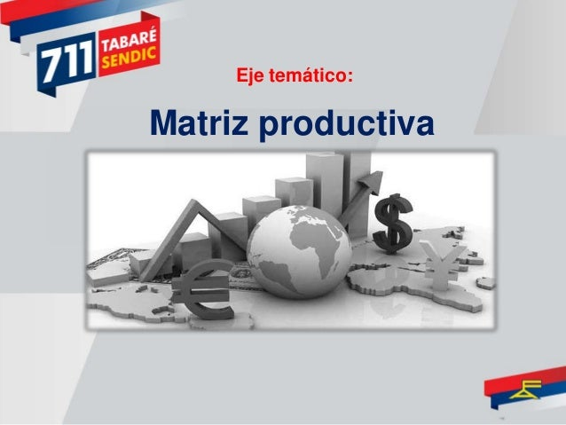 Matriz productiva Eje temático:
