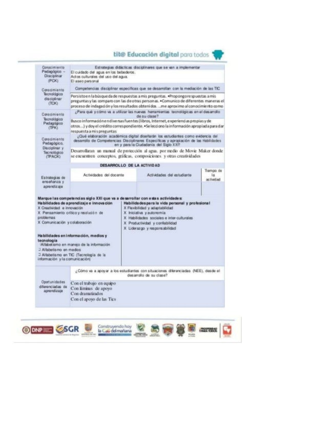 Maestro estudiante: Maestro formador: Título del proyecto: URL DEL PID: Instrumento de diseño curricular didác tico (Adapt...