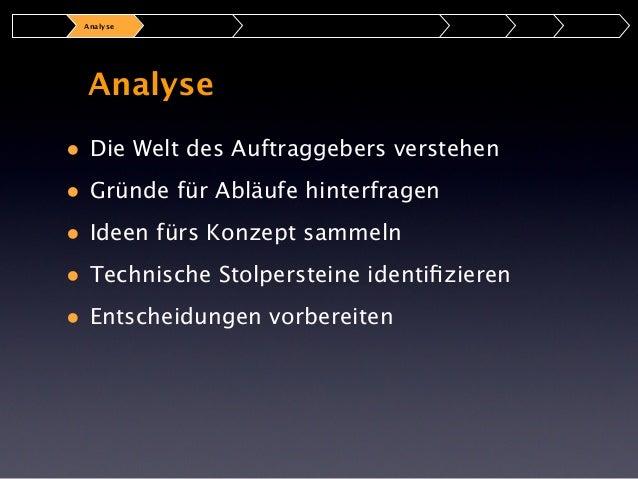 Analyse  Ziele & Anforderungen Was Warum Wie  Wer
