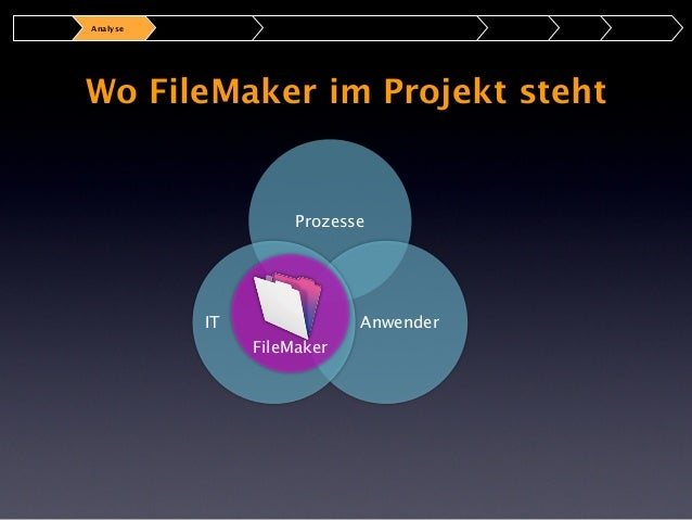 Analyse  Die optimale Besetzung fürs Projekt  Architekt  Prozesse  IT  Entwickler  Anwender  Berater  Projektleiter  FileM...