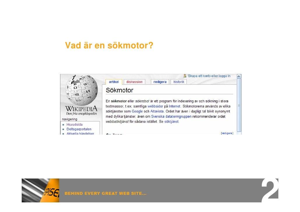 Vad är en sökmotor?