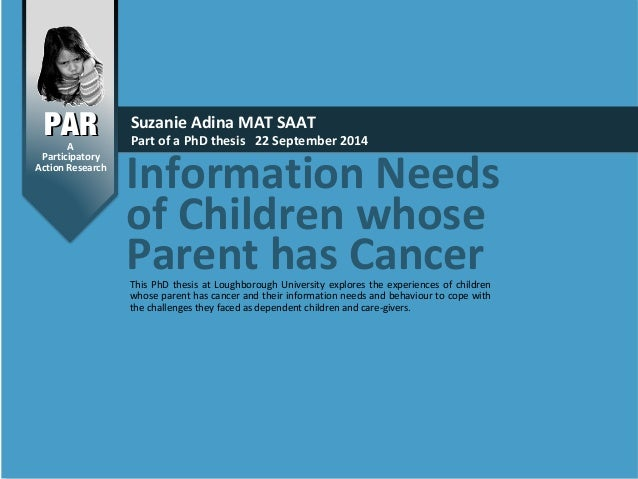 Information Needs of Children Whose Parent has Cancer SlideShare