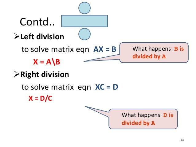 a divided by b_An Introduction to MATLAB for beginners