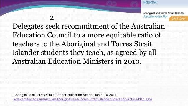 National Aboriginal And Torres Strait Islander Education Action Plan
