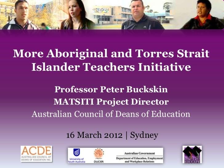 More Aboriginal And Torres Strait Islander Teachers Initiative Matsiti