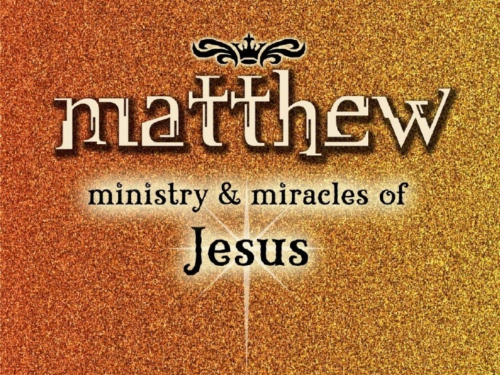 matthew 8:1-14 margins. militias. moms. miracles.                  restorative power of Jesus              is available to...