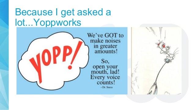 Because I get asked a lot...Yoppworks