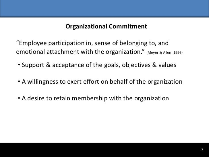 problem statement on organizational commitment and employee s innovative behavior Drive employee commitment by joe folkman  evidence shows that improving any leadership behavior  organizational success and failure the point is every leader.