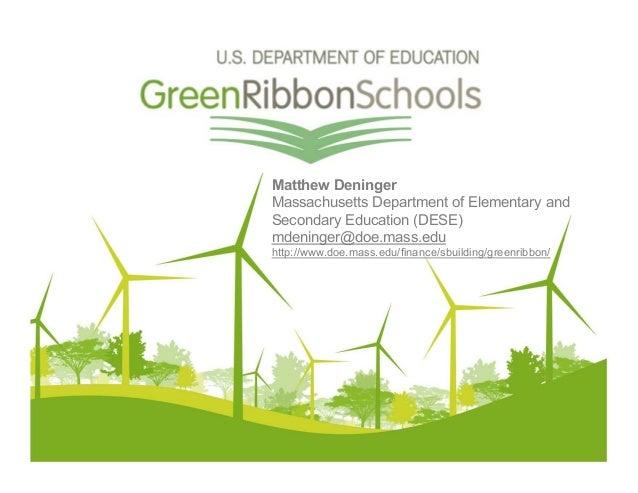 Matthew Deninger Massachusetts Department of Elementary and Secondary Education (DESE) mdeninger@doe.mass.edu http://www.d...