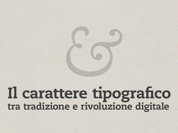Matteo Balocco @ Ebook Lab Italia 2011 - Il carattere tipografico tra tradizione e rivoluzione digitale