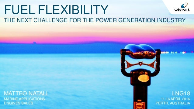 FUEL FLEXIBILITY THE NEXT CHALLENGE FOR THE POWER GENERATION INDUSTRY MATTEO NATALI MARINE APPLICATIONS ENGINES SALES LNG1...