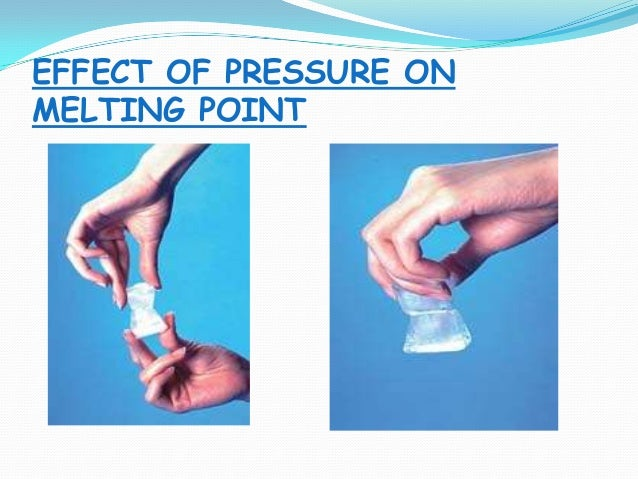 effect of pressure on melting point of ice pdf