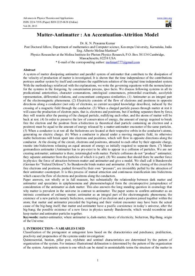 Advances in Physics Theories and Applications www.iiste.org ISSN 2224-719X (Paper) ISSN 2225-0638 (Online) Vol.20, 2013 1 ...