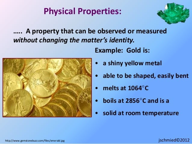 What Is One Physical Property Of Gold