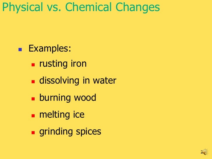 Physical And Chemical Changes Examples Quotes