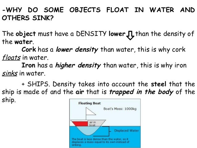 a study of buoyancy and displacement Buoyancy is the upward force caused by a fluid, such as water this concept helps to explain why some things float while other objects sink buoyancy.