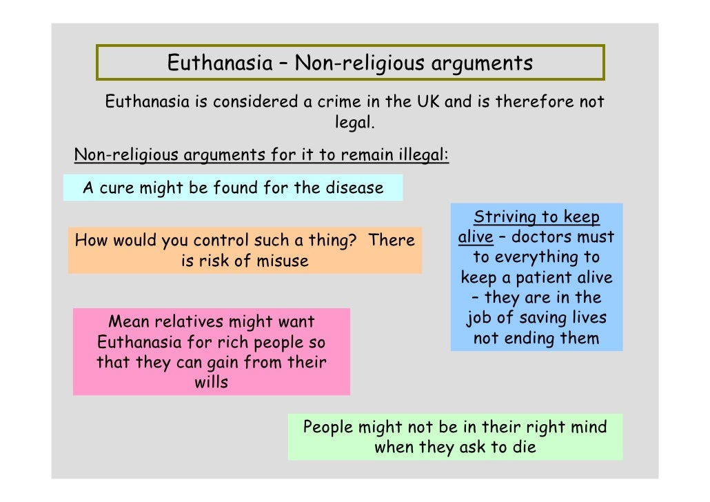 an argument in favor of euthanasia and its legalization Euthanasia essay examples  an argument in favor of euthanasia and its legalization  an argument in favor of legalizing euthanasia in the united states.