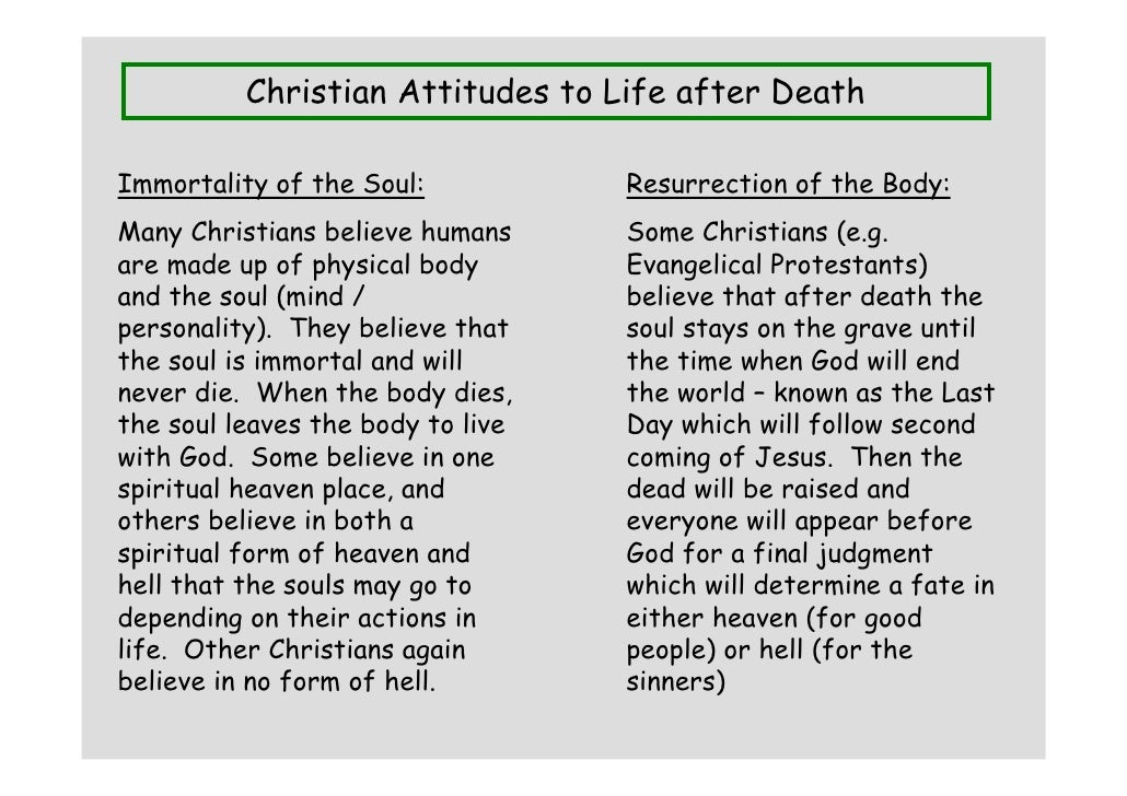 the question of the immortality of the soul according to christianity The immortality of the soul: could christianity  immortal soul at death, the immortal soul  included a thorough study of all biblical words and passages relevant to the question of the soul and immortality,.