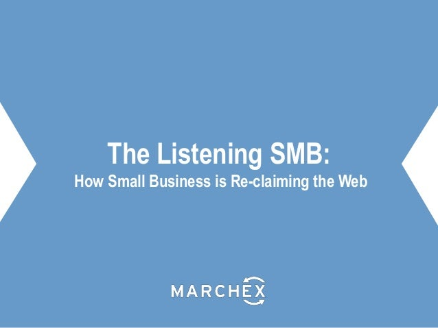 The Listening SMB: How Small Business is Re-claiming the Web
