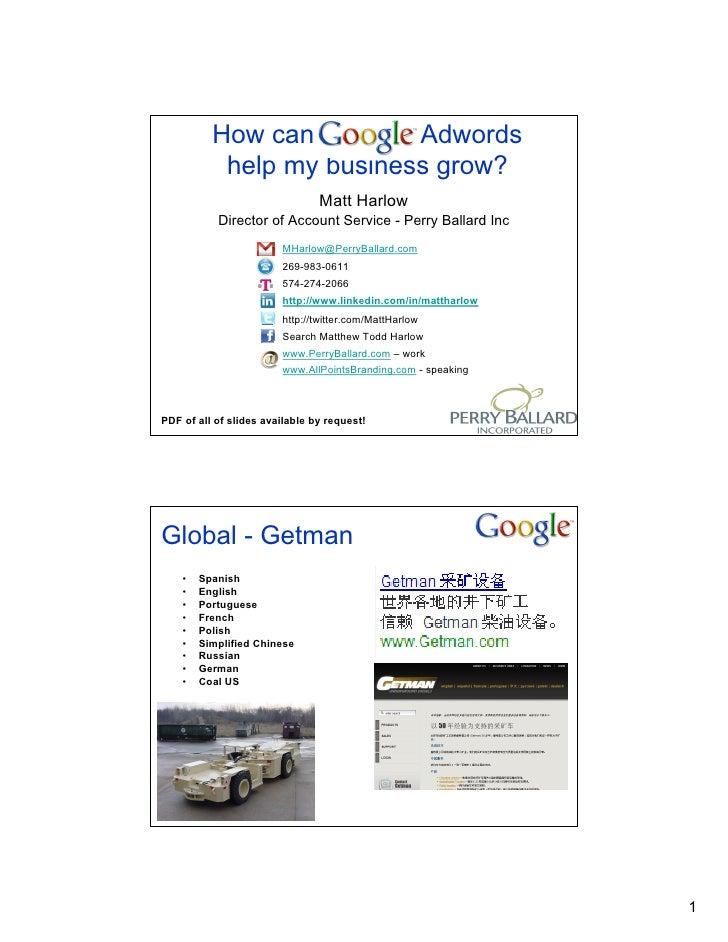 How can Google Adwords            help my business grow?                                 Matt Harlow            Director o...