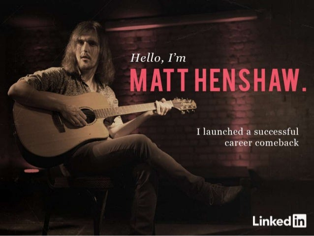 Hello, I'm Matt Henshaw I launched a successful career comeback